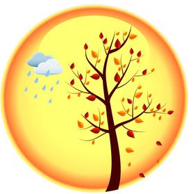 иконки, календарь, осень